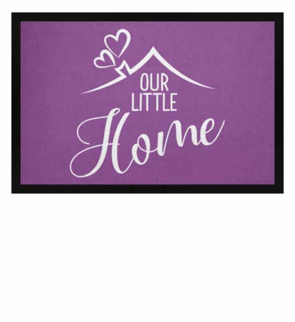 Our little home - Fußmatte mit Gummirand-31