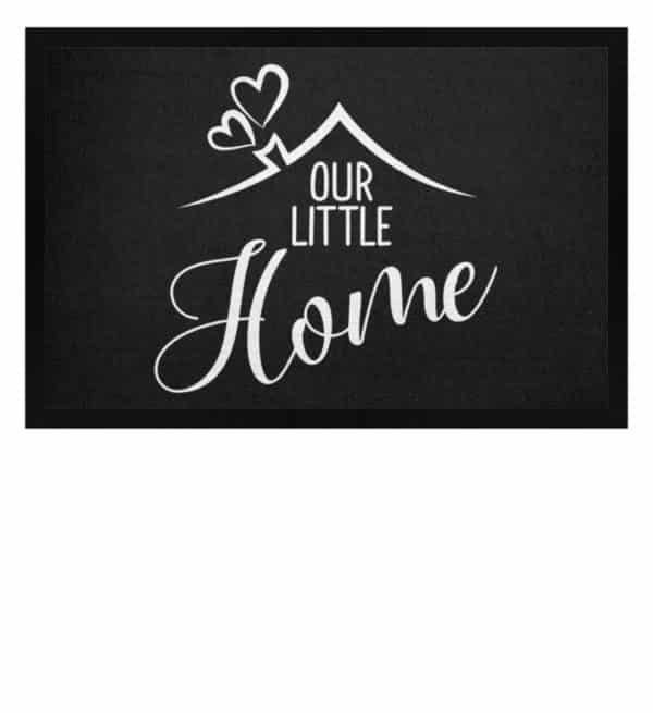 Our little home - Fußmatte mit Gummirand-16