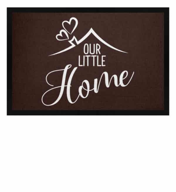Our little home - Fußmatte mit Gummirand-1074