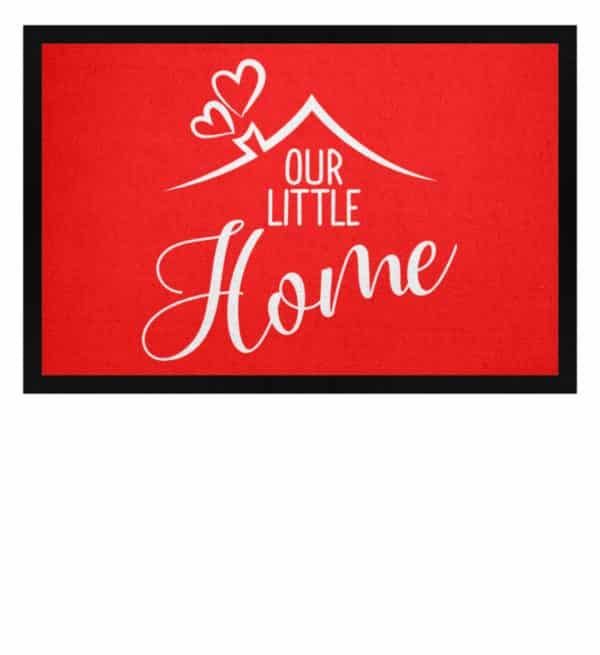 Our little home - Fußmatte mit Gummirand-5761